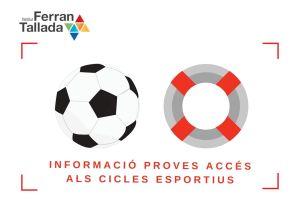 inscripció proves acces cicles esportius
